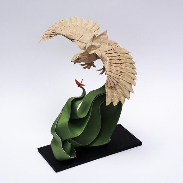 extreme origami sculptures picame. Black Bedroom Furniture Sets. Home Design Ideas