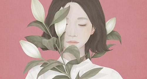 I ritratti floreali di Choi Mi kyung