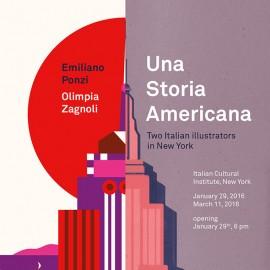 Una storia americana: Emiliano Ponzi ed Olimpia Zagnoli in mostra a New York