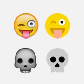 Le Emoji diventano bidimensionali