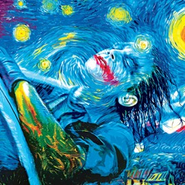 Van Gogh incontra Batman nei dipinti pop di Vartan Garnikyan