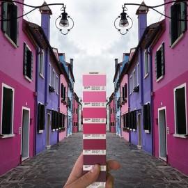 Il designer Andrea Antoni ha scovato le scale Pantone in giro per il mondo.