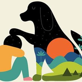 Storie di uomini e animali nelle illustrazioni minimal di Andy Westface