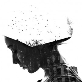 Double Exposure Self-Portraits