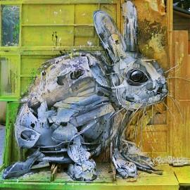 Gli incredibili animali di spazzatura di Bordalo II