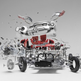 Exploded Sports Cars