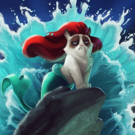 Grumpy Cat meets Disney Classics