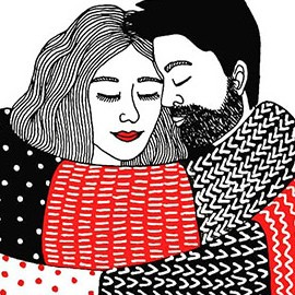 20 illustrazioni che vi faranno venire voglia di stare a casa, al caldo, con le persone che amate