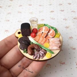 Un'artista russa realizza spettacolari cibi iperrealistici in miniatura