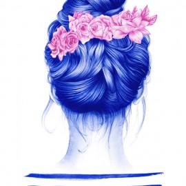 Nuria Riaza e la sua Bic blu