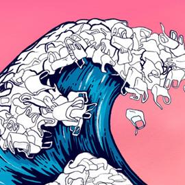 Oceani di plastica: antologia di immagini e illustrazioni per riflettere