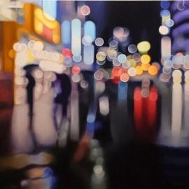 I dipinti dell'artista Philip Barlow mostrano il mondo come lo vedrebbe una persona affetta da miopia