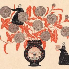 Le fiabe naif in rosso e nero di Sanae Sugimoto