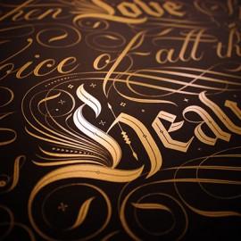 La strabiliante arte calligrafica di Seb Lester