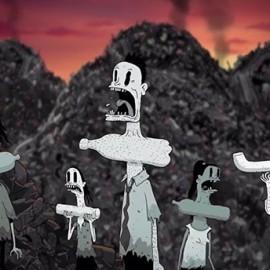 Uno scioccante corto animato mostra un mondo in cui il ruolo degli uomini e degli animali è invertito