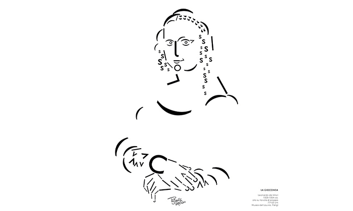 I grandi classici dell'arte rifatti con i font da Pasquale Verapodio
