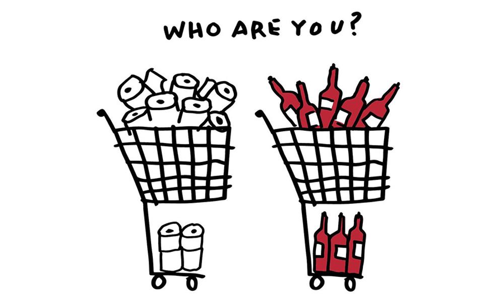 Alcune vignette di Rob Wilson per sdrammatizzare sulla quarantena