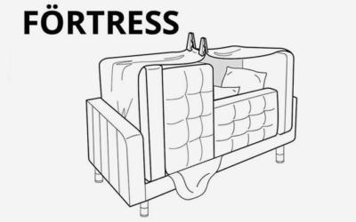 IKEA ha pubblicato le istruzioni per realizzare 6 diverse capanne e fortini da appartamento