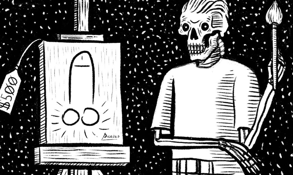 Uno scheletro come alter ego per sdrammatizzare sui problemi della vita: intervista illustrata a Daniele Vicentini