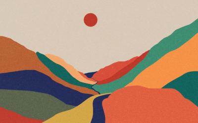 Macchie di colore che diventano paesaggi e delicate illustrazioni