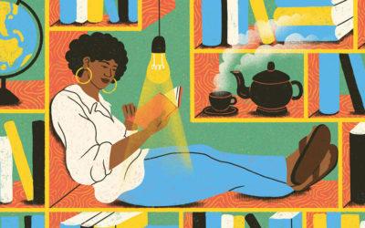 Amore per la lettura e orgoglio femminile nelle illustrazioni di Michelle Pereira
