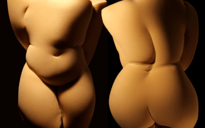 Sculture effimere in gommapiuma che riproducono il corpo umano: Étienne Gros