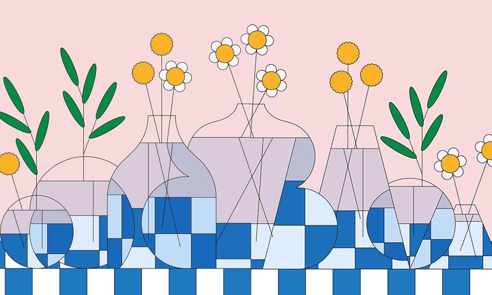 Illustrazioni minimali per trasmettere positività e gioia: Rocìo Egìo