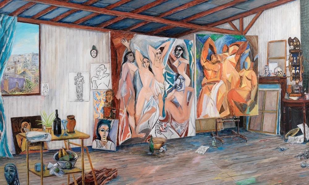 Damian Elwes ha dipinto oltre 200 studi degli artisti più famosi