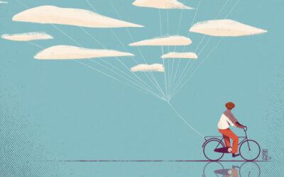 Illustrazioni concettuali che parlano di ricordi e spensieratezza: Frelly