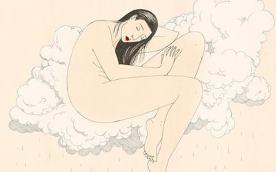 Illustrazioni in stile orientale per affrontare con delicatezza temi psicologici: Harriet Lee-Merrion