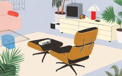 Dettagliate illustrazioni di interni per gli appassionati di design: Lianne Nixon