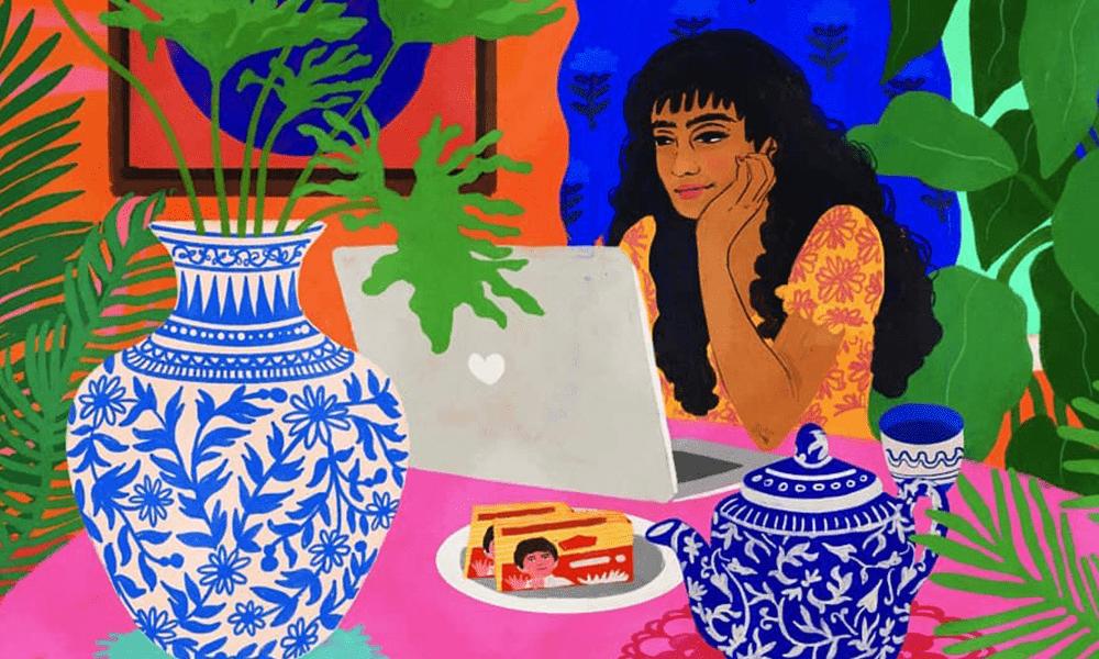Illustrazioni ispirate alle tradizioni e ai coloratissimi interni delle case indiane: Neethi Goldhawk