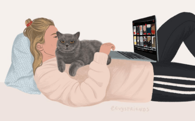 """Gioie e dolori della vita quotidiana nelle illustrazioni """"cozy"""" di Alissa Levy"""
