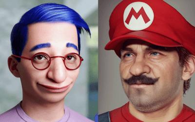 I personaggi dei cartoni animati e dei videogiochi diventano reali nei ritratti 3D di Hossein Diba