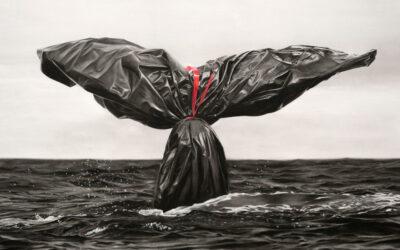 Un sacco della spazzatura è il ritratto della nostra società secondo gli artisti francesi Murmure Street