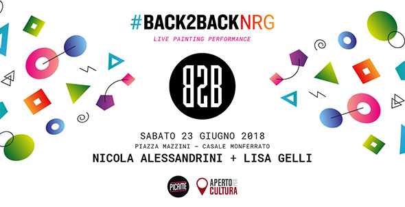 BACK2BACK NRG: Lisa Gelli e Nicola Alessandrini dal vivo a Casale Monferrato