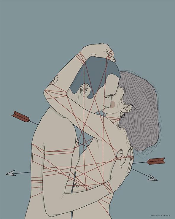 """I disegni in punta di piedi di Pietro """"Maniaco d'Amore"""" Tenuta"""