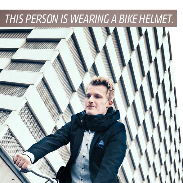 Invisible Bicycle Helmet