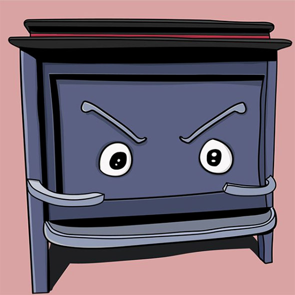 Keith Larsen disegna i personaggi buffi che si nascondono negli oggetti