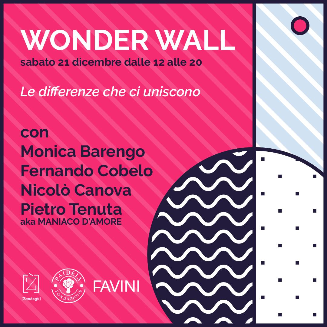 Wonder Wall: la maratona benefica di disegno con Monica Barengo, Pietro Tenuta, Fernando Cobelo e Nicolò Canova