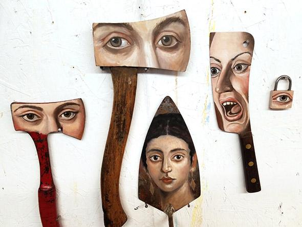 Gli utensili da lavoro trasformati in ritratti: Alexandra Dillon