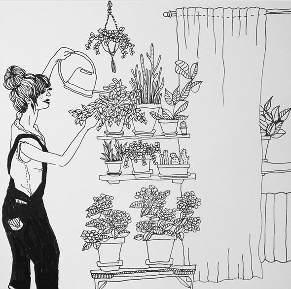 Le illustrazioni domestiche di Anna Pettersson