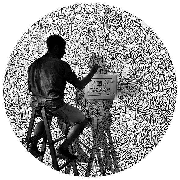 Intervista a Francesco Caporale, il doodle artist che dalla Calabria ha conquistato l'Italia