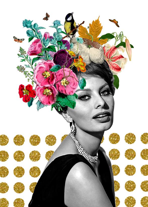 I collage surreali di Gloria Sanchez