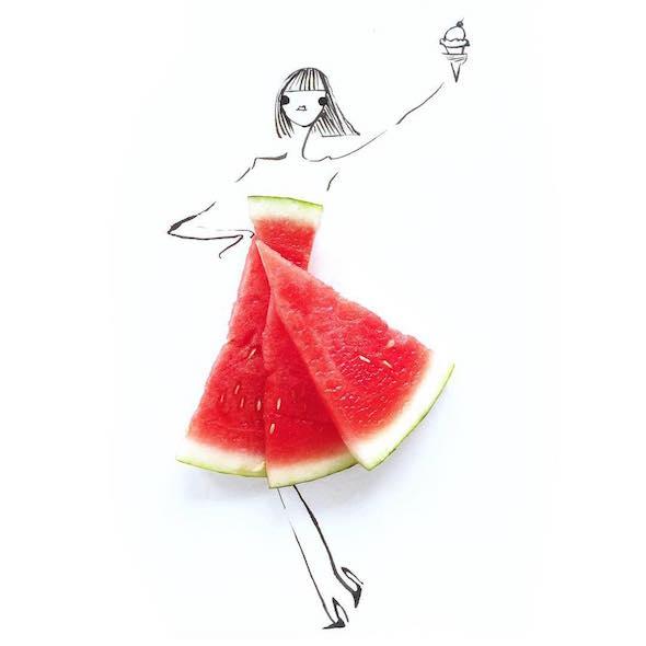 I vestiti fatti di verdura e frutta di Gretchen Röehrs