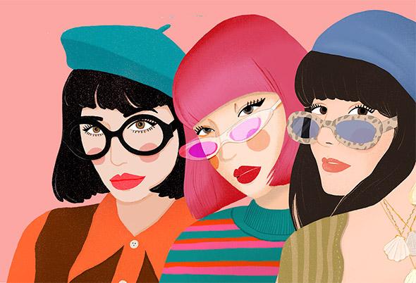 Eccentriche e colorate: le illustrazioni di Federica Ponz de Leon