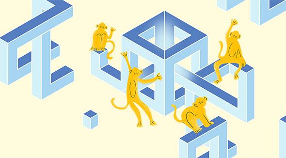 """IngannaMente"": l'illustrazione di Helga Aversa per Indiscienza 2019"