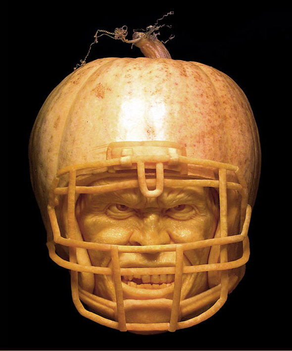 Hyper-realistic Pumpkin Sculptures