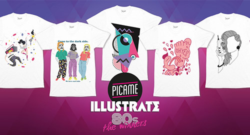 I 5 vincitori del contest Illustrate 80's