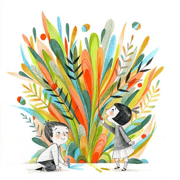 L'infanzia che avreste voluto nelle illustrazioni di Isabelle Follath